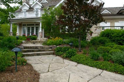 front walkway - great natural setting