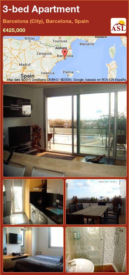 3-bed Apartment in Barcelona (City), Barcelona, Spain ►€425,000 #PropertyForSaleInSpain