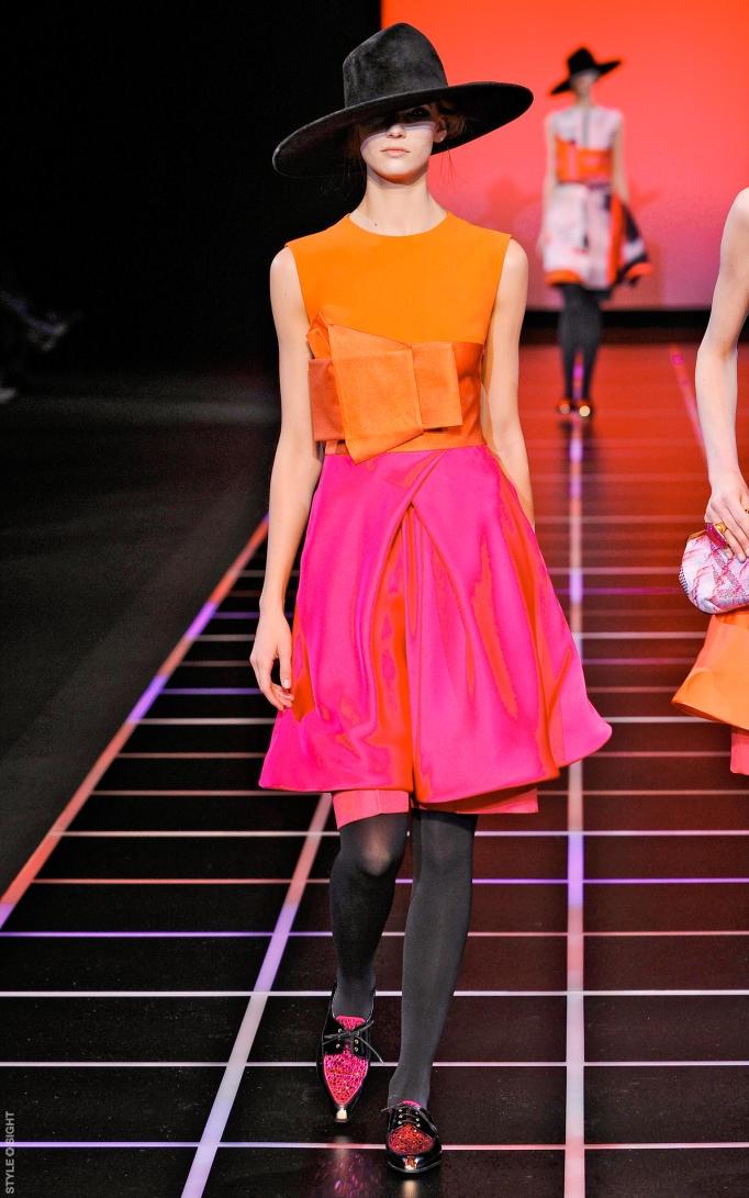 giorgio armani fall '12; pink + orange