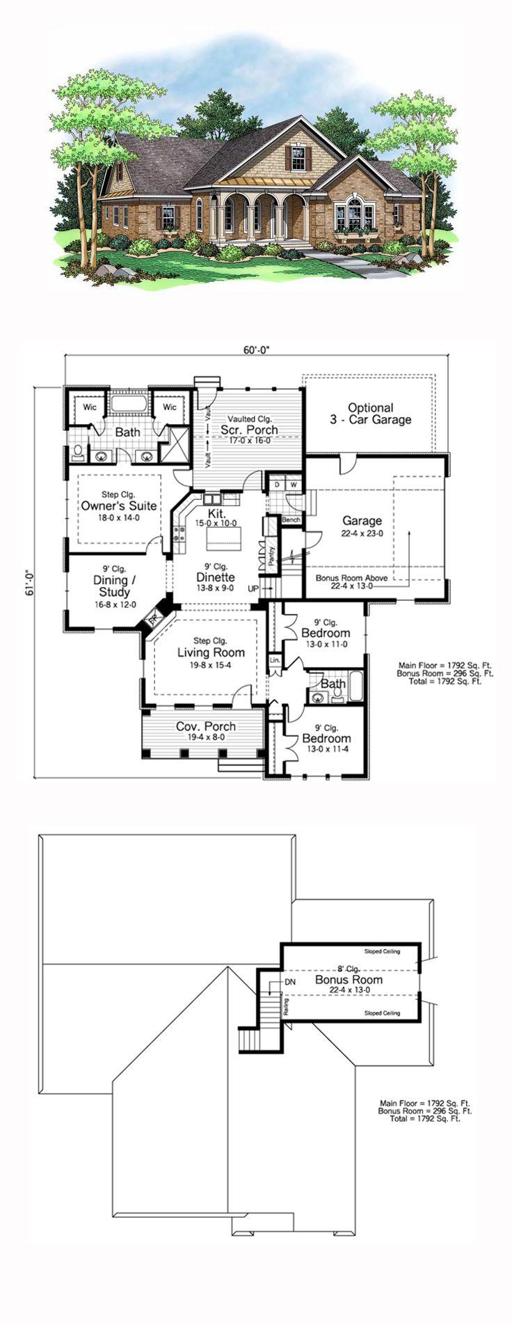 68 best european house plans images on pinterest european house european ranch traditional house plan 42503 jameslax Image collections