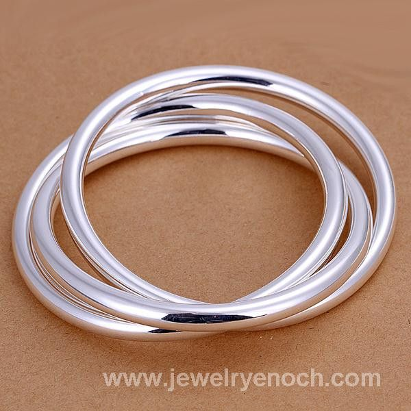 Cheap wholesale 925 silver dancing bangle jewelry