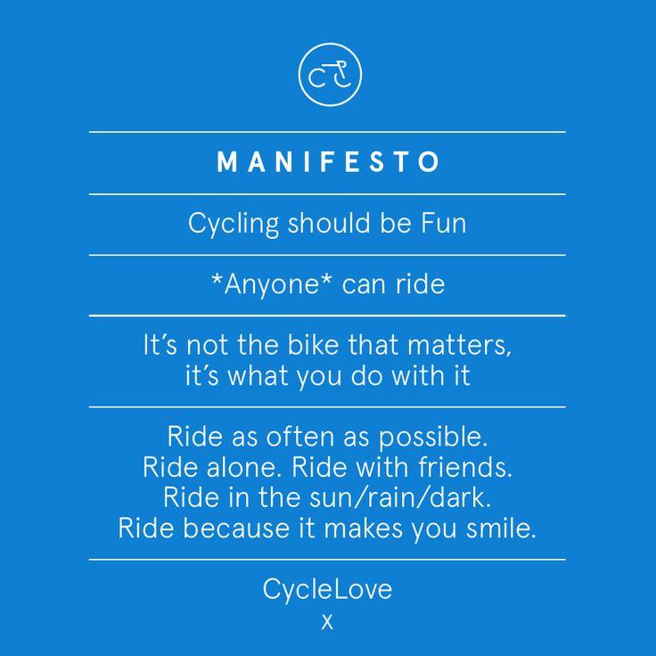 the CycleLove manifesto