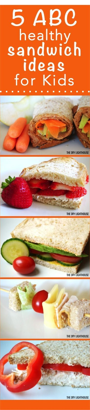 HEALTHY SANDWICH IDEAS for KIDS! 5 sandwich recipes for a good back to school lunch menu for the whole week long | rotate between these yummy and tasty sandwich ideas that are healthy but your kids will love at the same time!