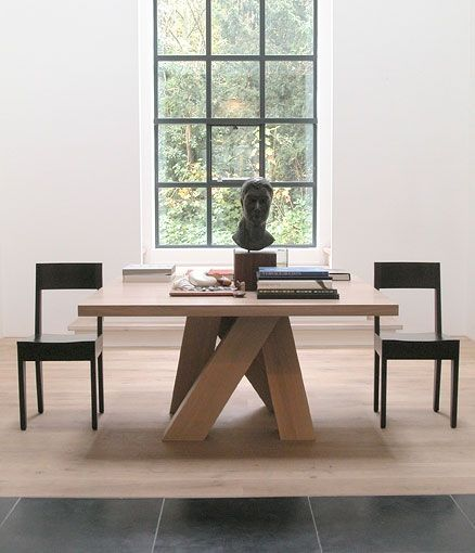 Métro table and Amsterdam chairs by Frans V Der Heijden and Kate Hume ( Heijden Hume)