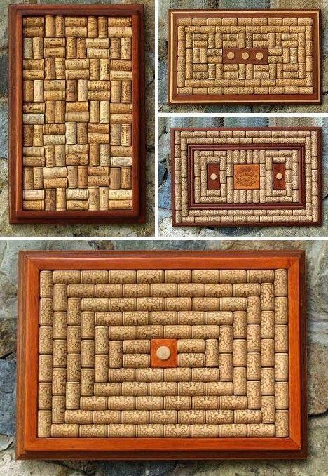 Crie quadros com padrões diferenciados. Clique e veja mais dicas de como aproveitar as #rolhas na decoração! #corks #diy #facavocemesmo