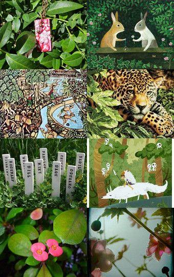 Tuesday Jungle (Treasury Game at Sixteen To Treasure) by Julia Jasiczak on Etsy--Pinned with TreasuryPin.com