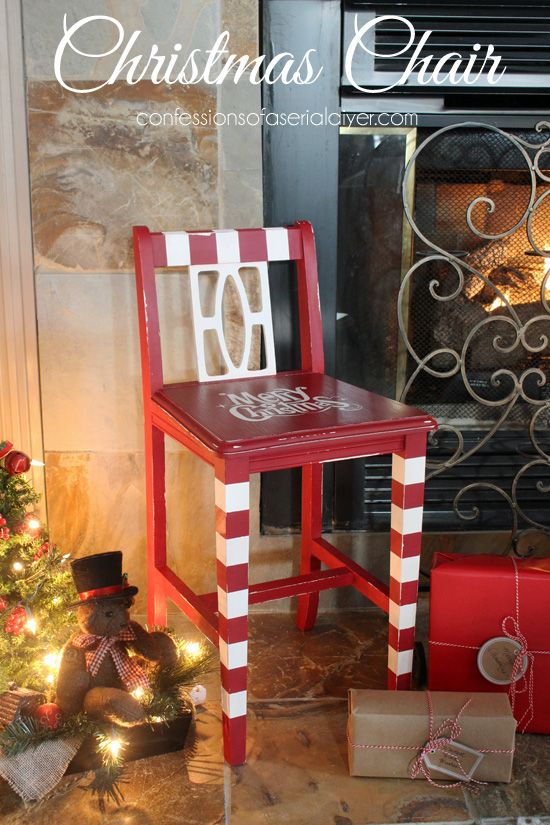 Christmas Chair...perfect for beside the fireplace!