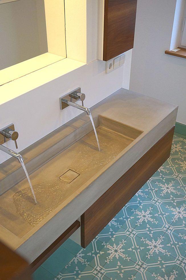 Neues Bad im Denkmal – Waschtische aus Beton, Be…