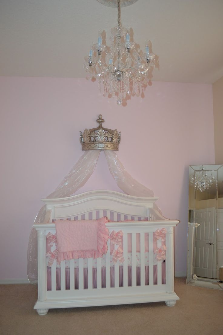 Baby cribs pottery barn - The Sweet Little Southern Charm By Tara Miller Pink Nursery Baby Girl Crowns Pottery Barn Bedding