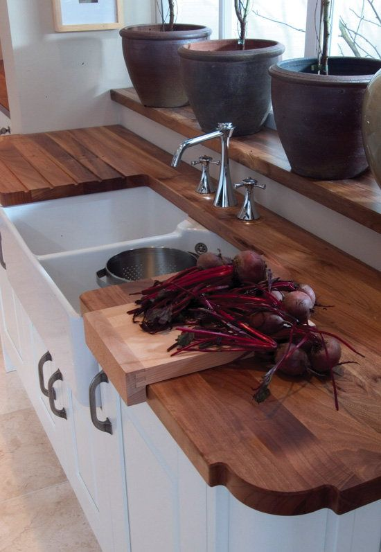 Walnut Kitchen Worktop With Belfast Sink