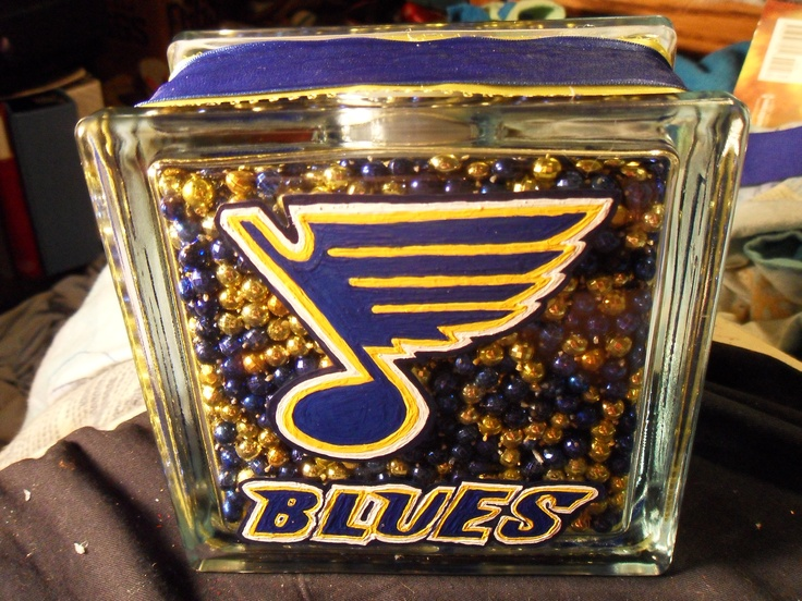 St. Louis Blues glass block