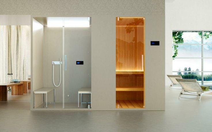 Bei geräumigen Wohnungen ist die Sauna Dampfdusche Kombination möglich