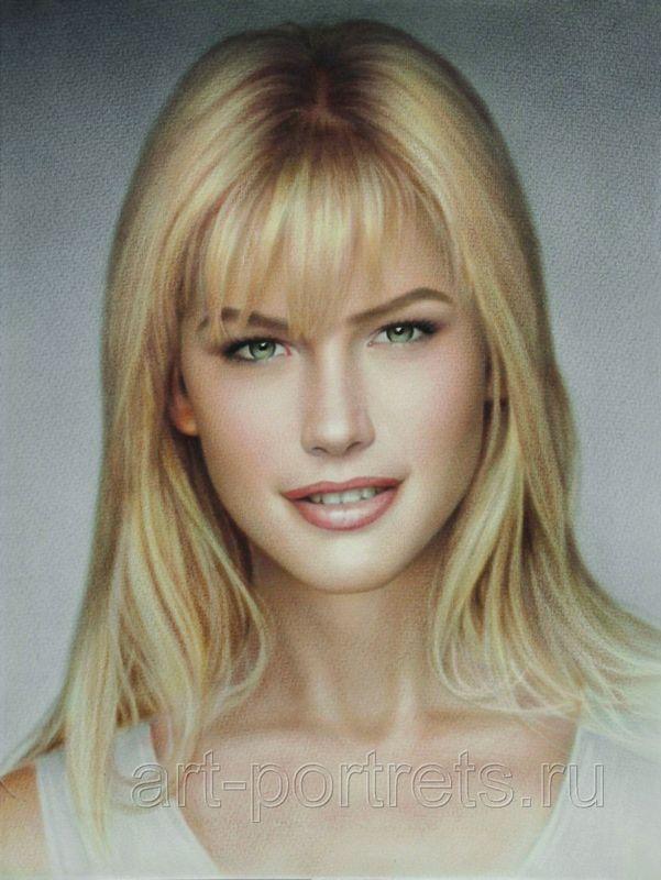 Valeria Mazza. Portrait of girl. portrait from photo