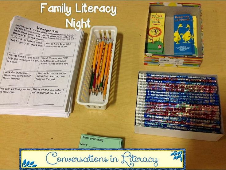Family Literacy Night Activities:  Scavenger Hunt!