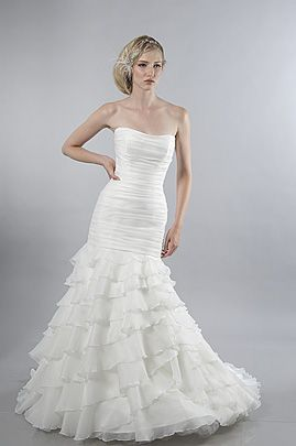 Alfred sung wedding dress ball-gown organza lace