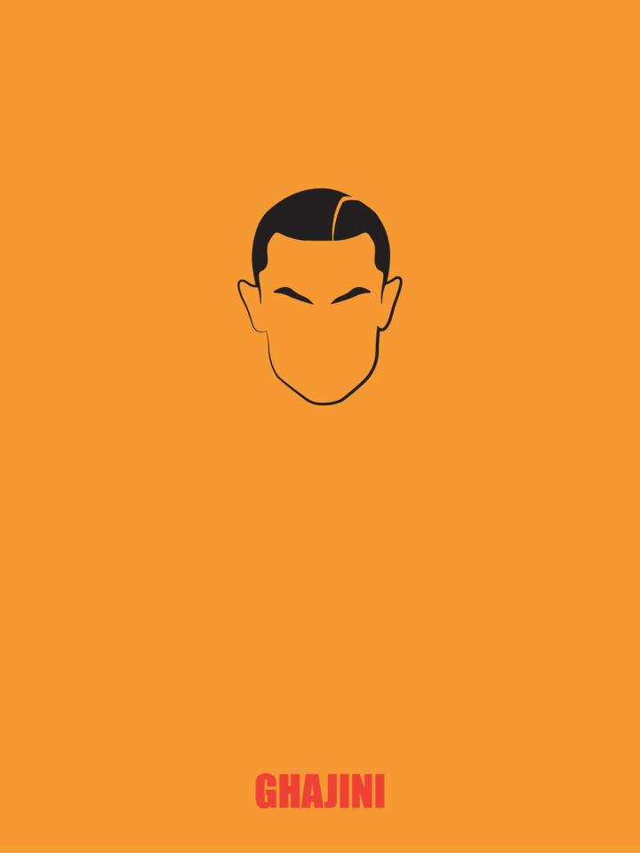 Minimal Bollywood Poster: 'Ghajini' by Prabhu Ganga http://crowdstudio.in/users/prabhuganga #bollywood #poster