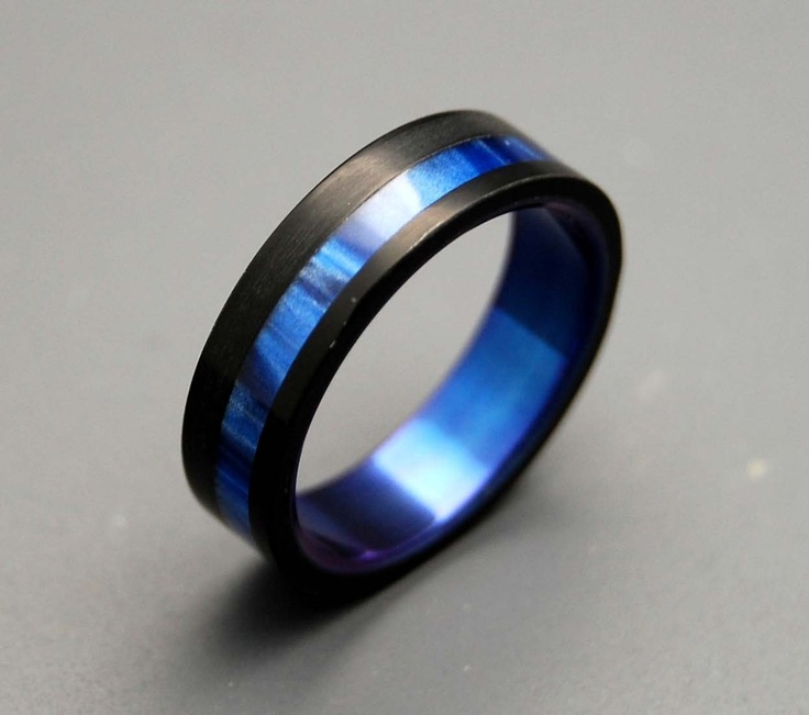 men s blue wedding bands Bing Thin Blue Line Pinterest