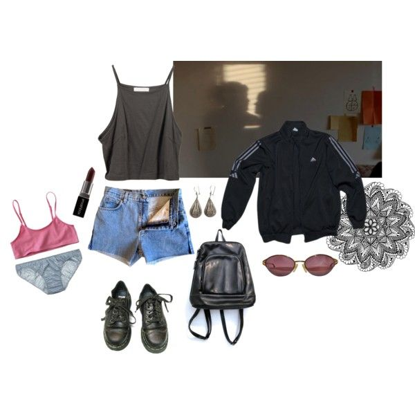 Untitled #218 by papawine on Polyvore featuring Only Hearts, adidas, Christian Dior, Smashbox and Dr. Martens