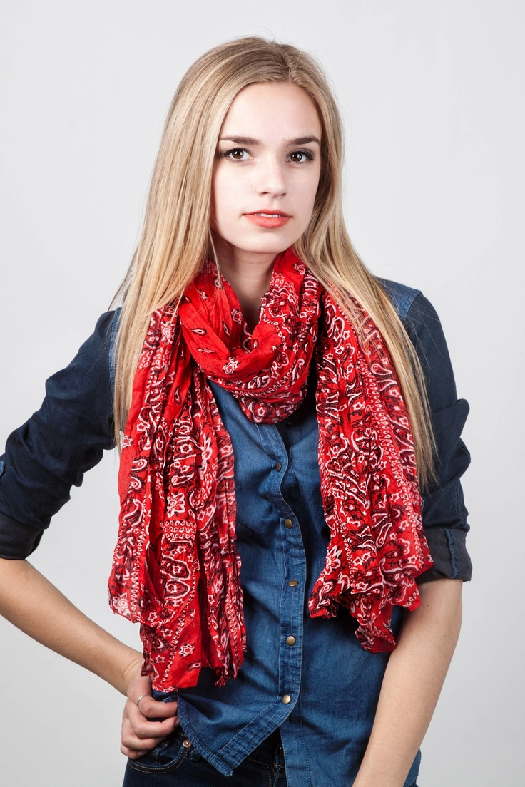 I Love The Usa Red Scarf Scarf Styles Fashion Bandana