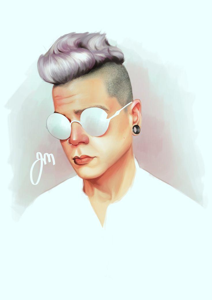 Portrait of Matt Diaz by Jenniina Martikainen