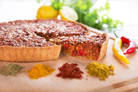 Zajímavé těsto na slaný koláč ze špaldové mouky a tahini...
