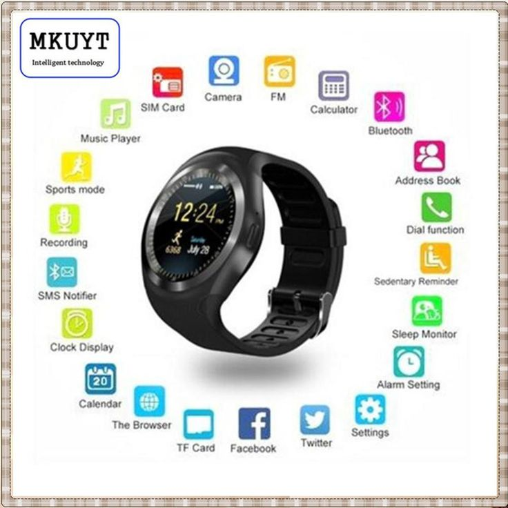 MKUYT Y1 Smart Watchs Round Support Nano SIM &TF Card With Whatsapp And Facebook Smartwatch For IOS Android PK DZ09 GT08 A1 U8