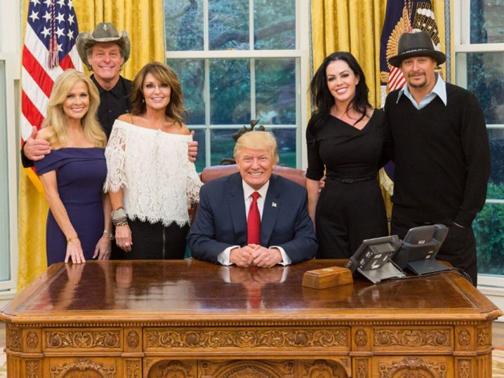 Donald Trump Invites Kid Rock, Ted Nugent and Sarah Palin to Oval Office | TMZ.com