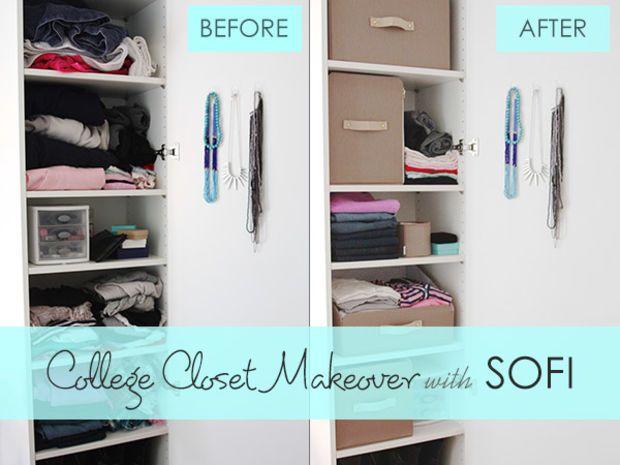 Sponsored: College Closet Organization with SOFI - College Fashion