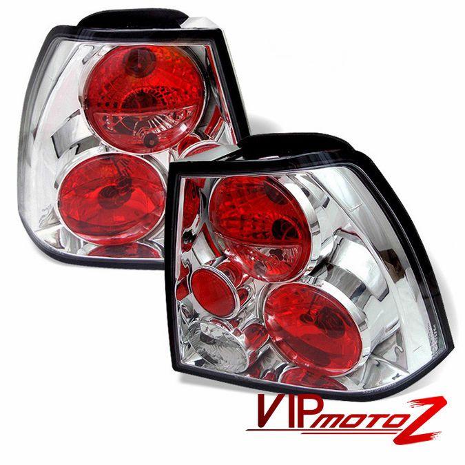 [BARGAINDEALZ] 99-05 Volkswagen MK4 Jetta Bora Sedan Chrome Altezza Tail Lights #VIPMOTOZ