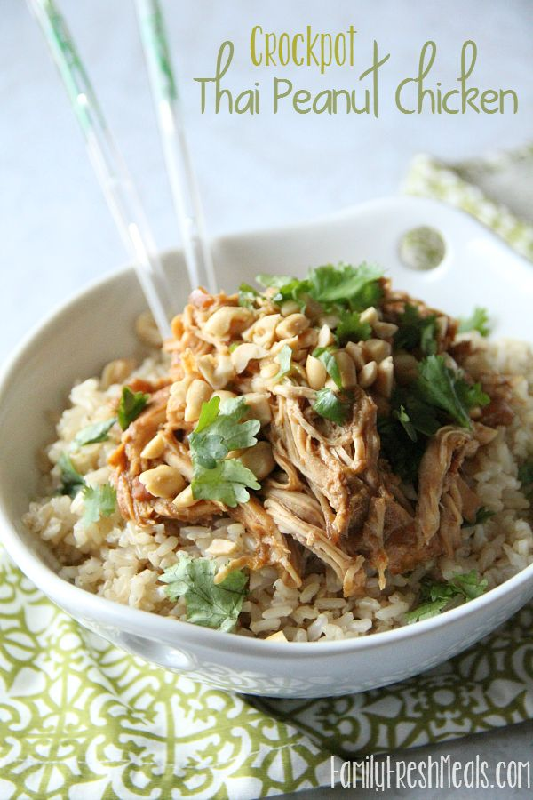 Crockpot Thai Peanut Chicken Recipe