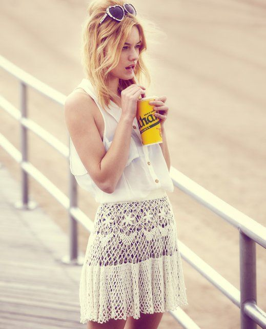 free peopleFashion, Minis Skirts, Born To Running, Style, Freepeople, White, Free People, Crochet Skirts, Coney Islands