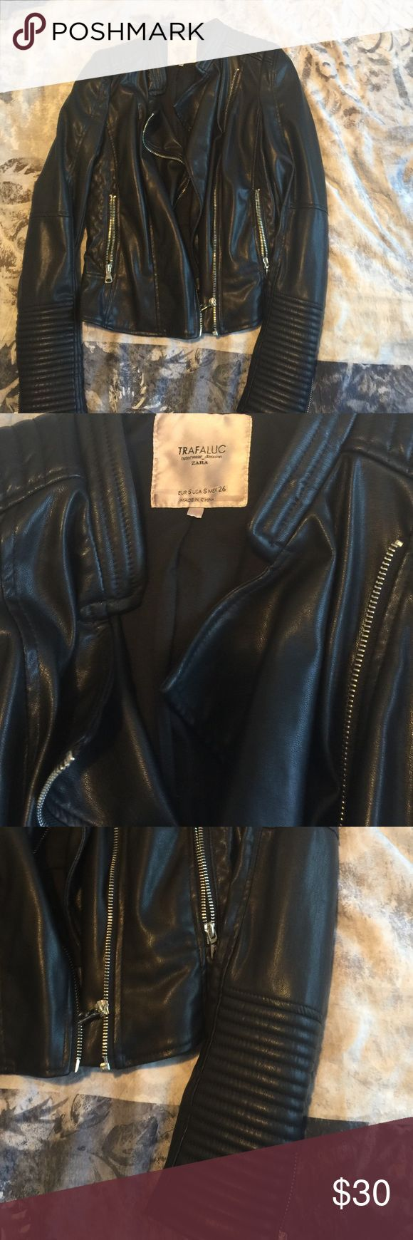 Faux leather Zara jacket Faux leather Zara jacket size S worn just few times very good condition zara Jackets & Coats