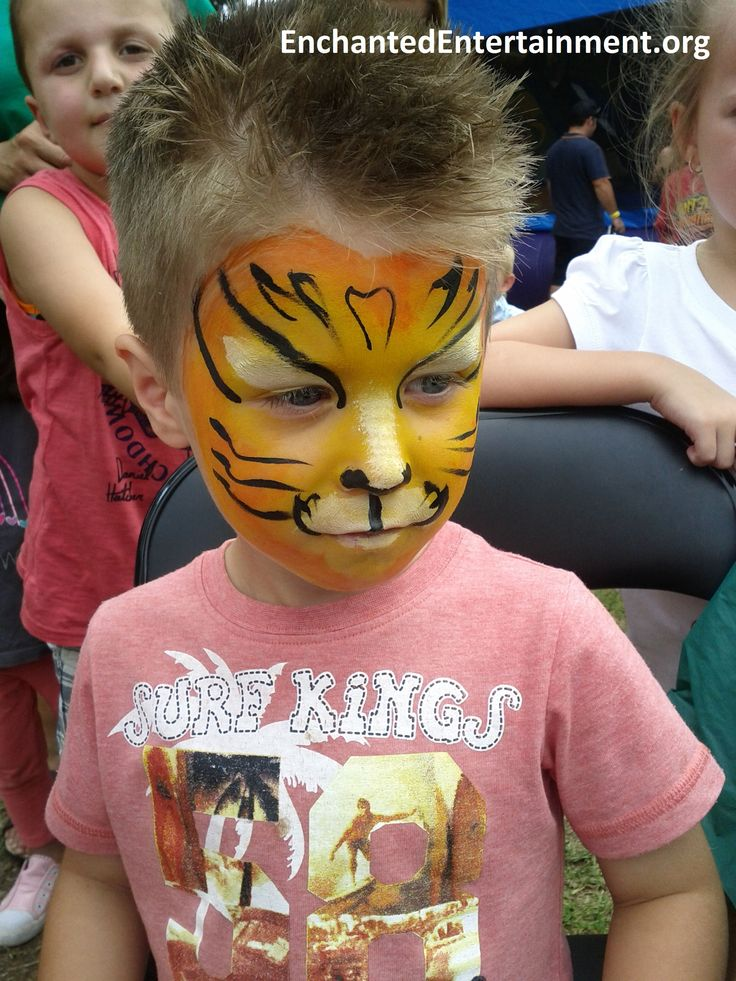 Little tiger boy face painting by EnchantedEntertainment.org  Character Parties, Face Painting & Entertainment for Children  Northern NSW & Gold Coast, Australia
