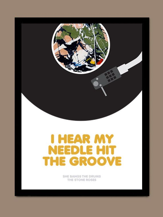 She Bangs The Drums - The Stone Roses / Song Lyric Typography Poster on Etsy, £7.00