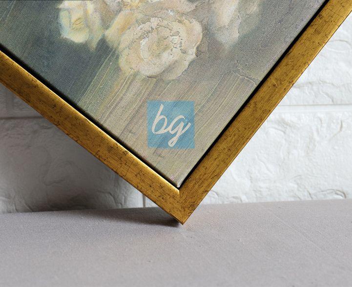 إطار لوحة كانفس خارجي باللون الذهبي برواز براويز Floating Frame من باري غاليري براويز صور إطار ذهبي برواز ذهبي Book Cover Art Frame