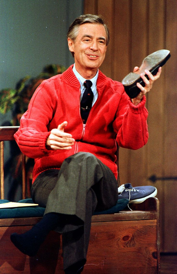 Mr. Rogers slipping into something a little more comfortable