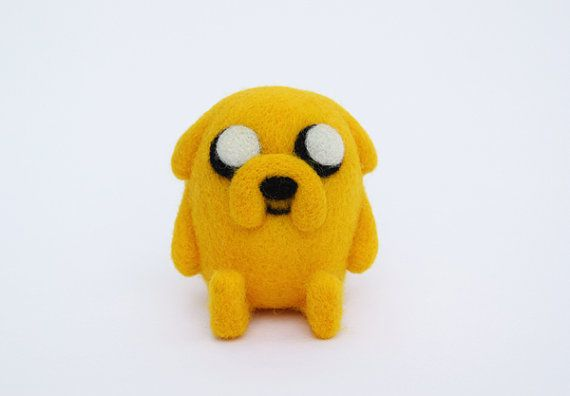 Hey, I found this really awesome Etsy listing at https://www.etsy.com/listing/189707850/needle-felted-jake-the-dog