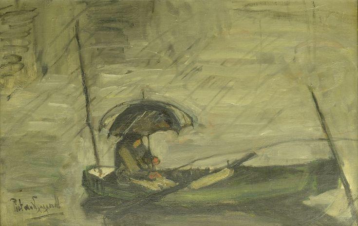 Piet van Wijngaerdt (1873-1964)  Titel: Regen - Artiquair