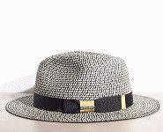 Stetson chapeau Traveller été noir blanc