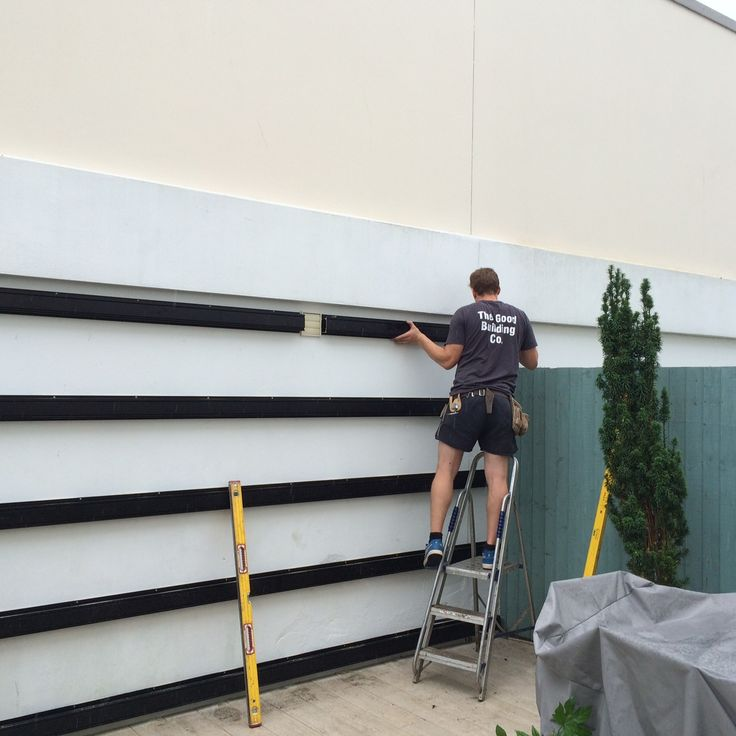 Green wall hardware fitting out.