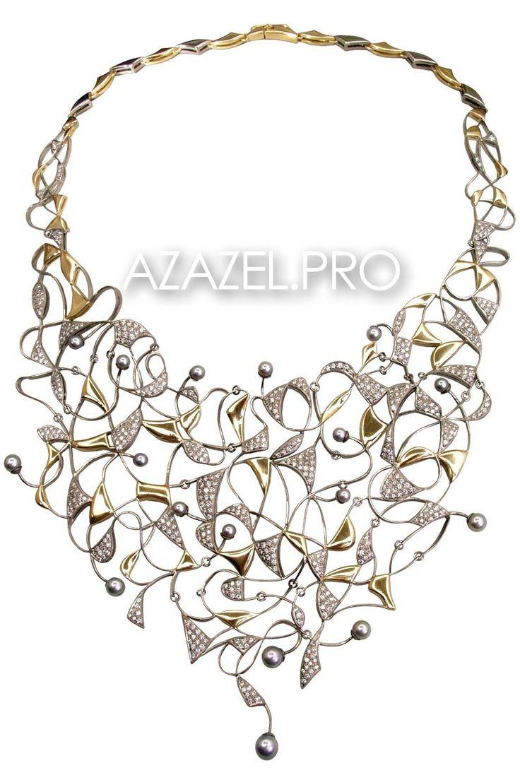 Друзья привет! Представляю изящное Ожерелье колье с Алмазами и Жемчугом №86017VN!  Подробнее здесь: http://azazel.pro/pearl-gemstone/necklaces-made-of-gemstone-pearl.html#86017vn  #алмаз #diamond #ожерелье #украшения #jewellery #necklace #pearl #жемчуг