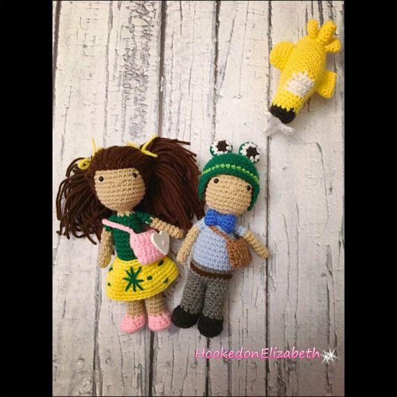 SMALL Sophia and Caleb Crochet Doll Stuffed Toy Plush