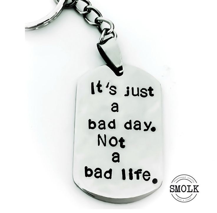 Produkten It´s just a bad day. Not a bad life. säljs av SMOLK -Handstamped jewelry with a twist i vår Tictail-butik. Tictail låter dig skapa en snygg nätbutik helt gratis - tictail.com
