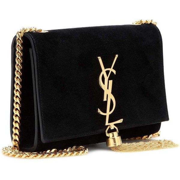 Saint Laurent Classic Small Monogram Suede Shoulder Bag ($1,605) ❤ liked on Polyvore featuring bags, handbags, shoulder bags, shoulder bag handbag, yves saint laurent, yves saint laurent purse, shoulder handbags and suede purse