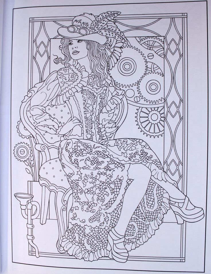 Creative Haven Steampunk Fashions Coloring Book Books Marty Noble