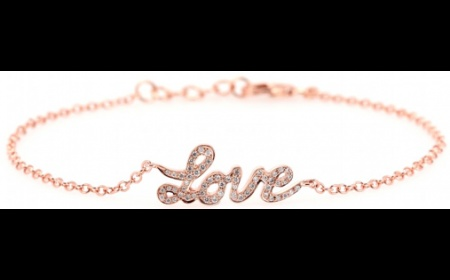 Cada, Love 18karat pink gold bracelet with white diamonds, £895, Motilo.com
