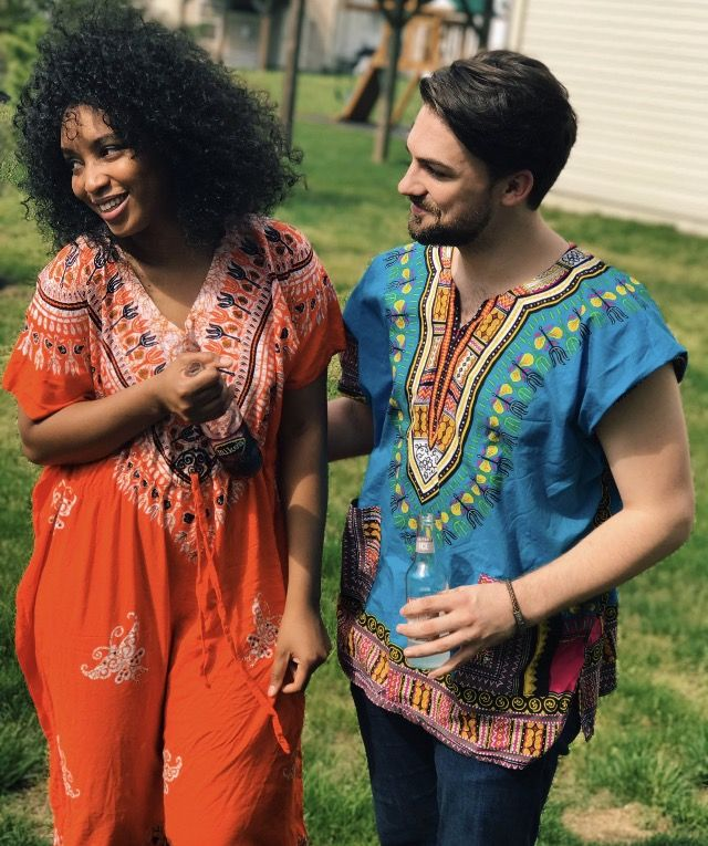 Beautiful interracial couple embracing the multicultural aspect of their relationship #love #wmbw #bwwm #swirl