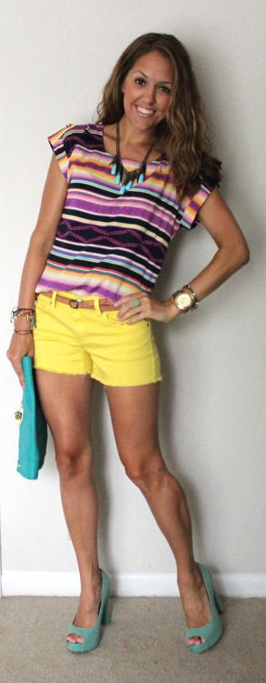 Love these colors from J's Everyday Fashion! Definitely feeling the tribal shirt.