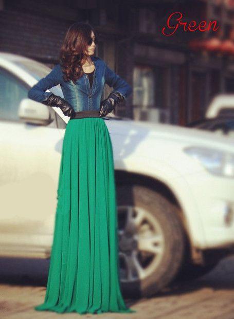 Long Chiffon Maxi Skirts