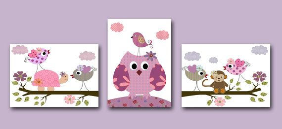 Baby Girl Owl Decor